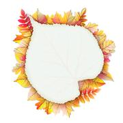 Stock Illustration of Autumn frame with fall leaf. EPS 10