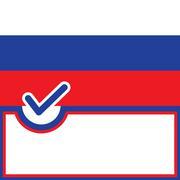 Voting symbol Russia flag Stock Illustration