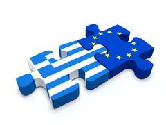 Stock Illustration of Greece - European Union Puzzle