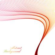 Abstract curved lines on bright background. Vector illustration - stock illustration