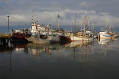 Steveston Harbor, Moody Sky - stock photo