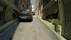 Camera movement along the narrow streets of the Turkish Stock Footage
