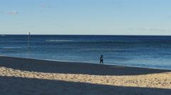LIight and shadow contrast on a Australian beach 4K Stock Footage