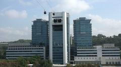 Sentosa Island cable car, Singapore Stock Footage