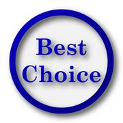 Best choice icon. Blue internet button on white background.. - stock illustration