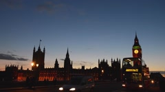 Westminster Bridge, London, England Stock Footage