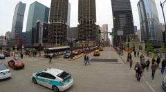 35 East Wacker Drive Traffic in Chicago Stock Footage