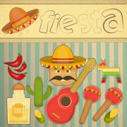 Mexican Fiesta Stock Illustration