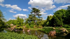 Pond in a Crystal Park in London at sunset Stock Footage