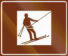 Ski Lift In Finland Stock Illustration