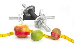 Healthy Living - nutrition & exercising Stock Photos