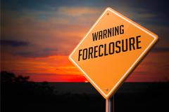 Foreclosure on Warning Road Sign Piirros