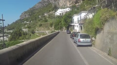 Hi Speed Driving on the Amalfi Coast Stock Footage