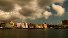 Time lapse  of the floating bridge of Willemstad in Caribbean Island of Curaçao Stock Footage