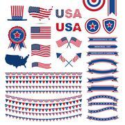 USA flag pattern element Stock Illustration