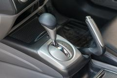 Automatic transmission gear shift. - stock photo