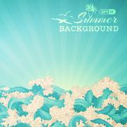 Stock Illustration of Bright summer background.
