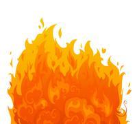 Flame on white background. Stock Illustration