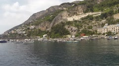 Boat Ride on the Amalfi Coast Stock Footage