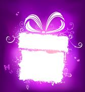 Violet holiday design with white place for your text. Stock Illustration