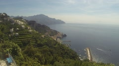 Amalfi from Above Stock Footage