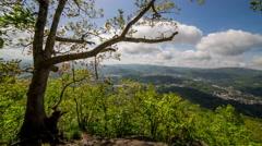 Appalachian Mountain View Time Lapse - stock footage