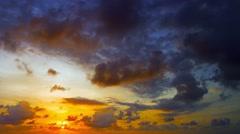 Romantic, Tropical, Sunset Sky Stock Footage
