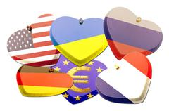 Flags heart - Patriotism - Illustration Stock Illustration