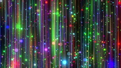 Colorful Particles Fall Stock Footage