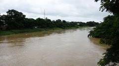 Pegu River in Bago, Myanmar Stock Footage