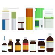 Vector modern medicine bottles set Stock Illustration