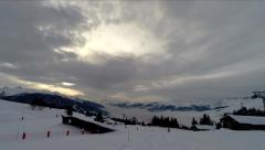 French Alp Ski Resort Arc1800 Timelapse UHD 4K Stock Footage