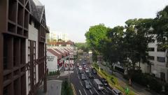 High angle view Up Orchard road version one Stock Footage