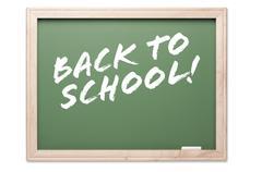 Back to School Chalkboard - stock photo