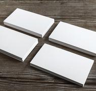 Set of business cards - stock photo