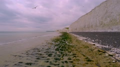 Seven Sisters cliffs 4K Stock Footage