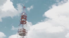 Mobile communication tower Stock Footage