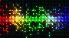 Led Lights Flashing EQ - stock footage