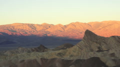 Sunrise Badlands Amargosa Range Death Valley Zabriskie Point Stock Footage