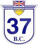 British Columbia Highway 37 Stock Illustration