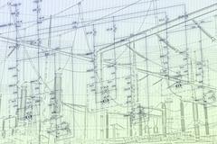 Engineering scheme - stock illustration