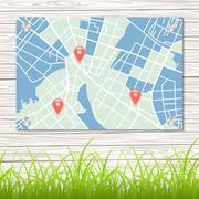 Street map - stock illustration