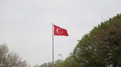 Turkish Flag Nice big Turkish flag Stock Footage