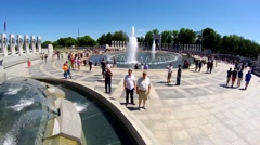 4K footage of WWII Memorial Stock Footage