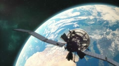 Satellite in Orbit 1080p Stock Footage