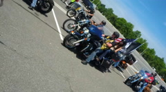 Rolling Thunder riders Stock Footage