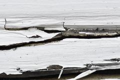 Peeling Paint Rotting wood Stock Photos