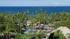 Marriott time share Ko Olina Hawaii pool area Stock Footage