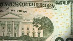 $20 Bill Closeup Back Stock Footage
