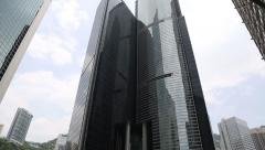 Citibank Plaza housed the Hong Kong headquarters of Citigroup in Hong Kong Stock Footage